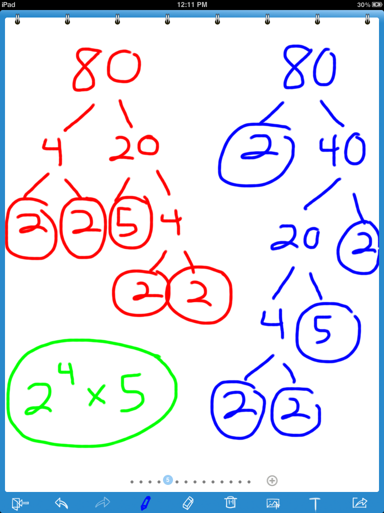 Prime factorization ipad lesson includes 3 student activities prime factorization ipad lesson includes 3 student activities step by step directions fandeluxe Choice Image