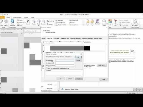 Microsoft Outlook Password عمل كلمة سر للاوتلوك Youtube
