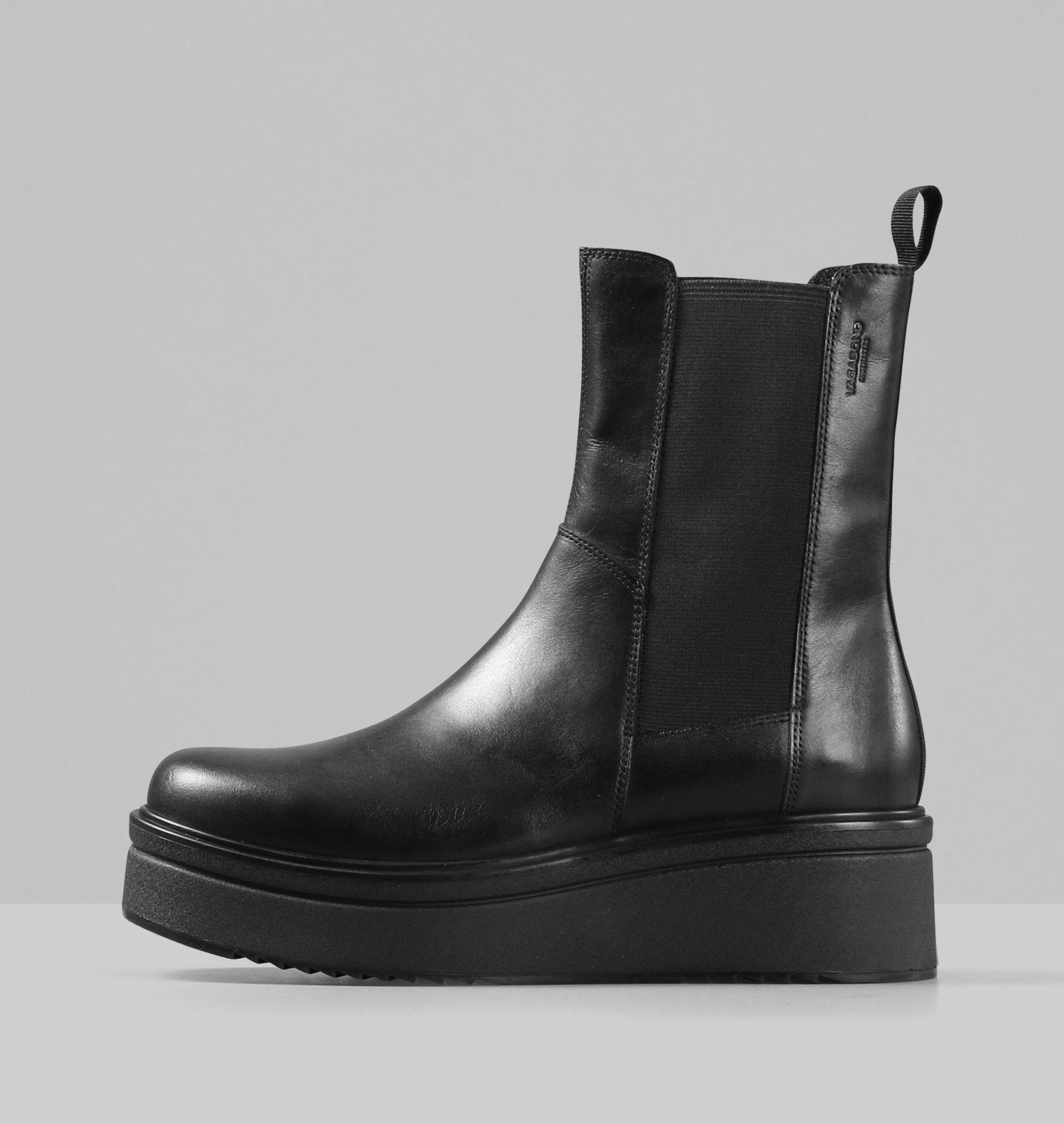 TARA   Black leather boots, Boots