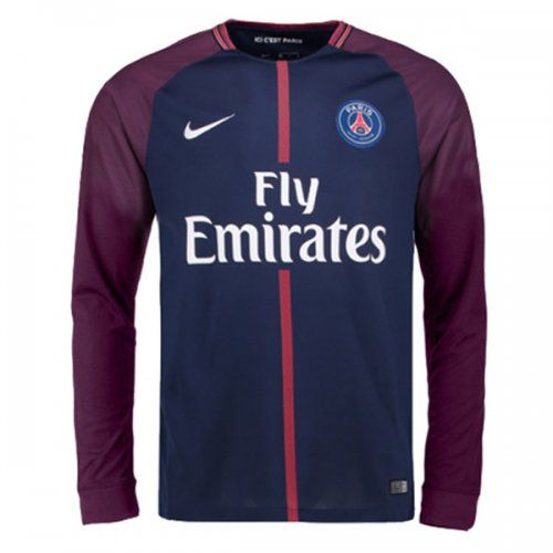 91fe19ec8ca PSG 17/18 Home Long Sleeve Soccer Jersey Shirt | Soccer Jerseys ...