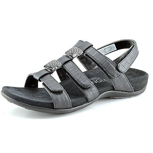 98b02c8976e3 Vionic Womens Rest Amber Strappy Open Toe Sandal Shoes Black Crocodile US  10     Details can be found by clicking on the image.