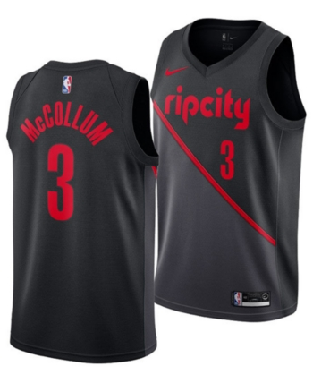 Nike Men s C.j. McCollum Portland Trail Blazers City Swingman Jersey 2018 -  Black XXL 5823a77e9