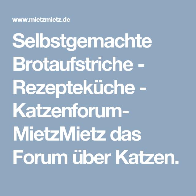 Selbstgemachte Brotaufstriche  - Rezepteküche - Katzenforum- MietzMietz das Forum über Katzen.