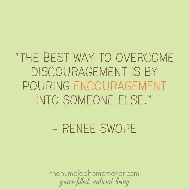 Get over discouragement