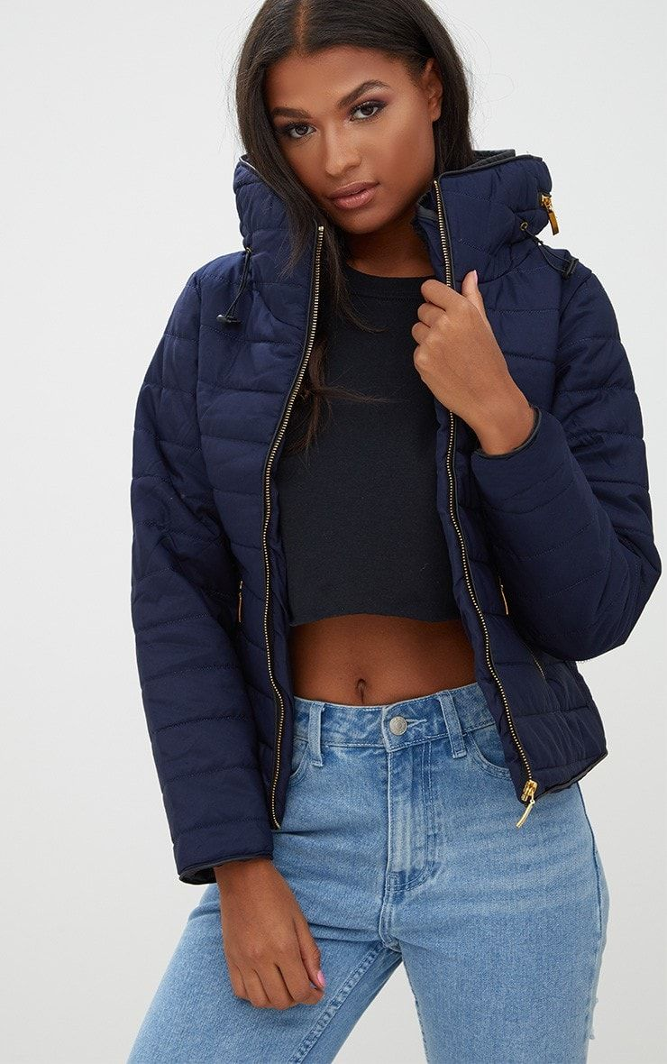 Mara Navy Puffer Jacket Shop Coats Jackets Prettylittlething Blue Jackets Outfits Puffer Jacket Outfit Winter Jacket Outfits [ 1180 x 740 Pixel ]
