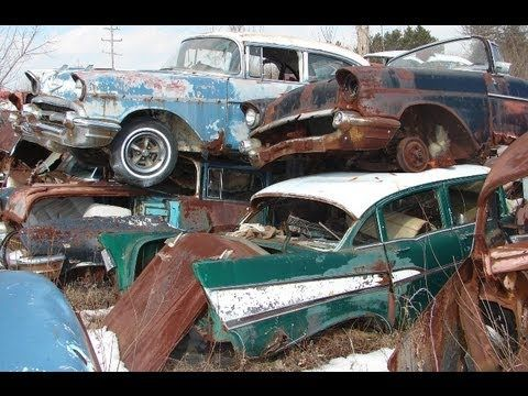Huge Classic Car Junkyard - Wrecked Vintage Muscle Cars