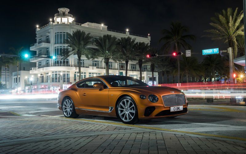 Desktop Wallpaper Orange Bentley Continental Gt Hd Image