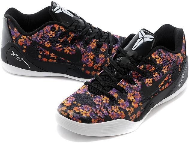 brand new 5abf4 814f9 Nike Zoom Kobe 9 Flower Black White Purple Orange1