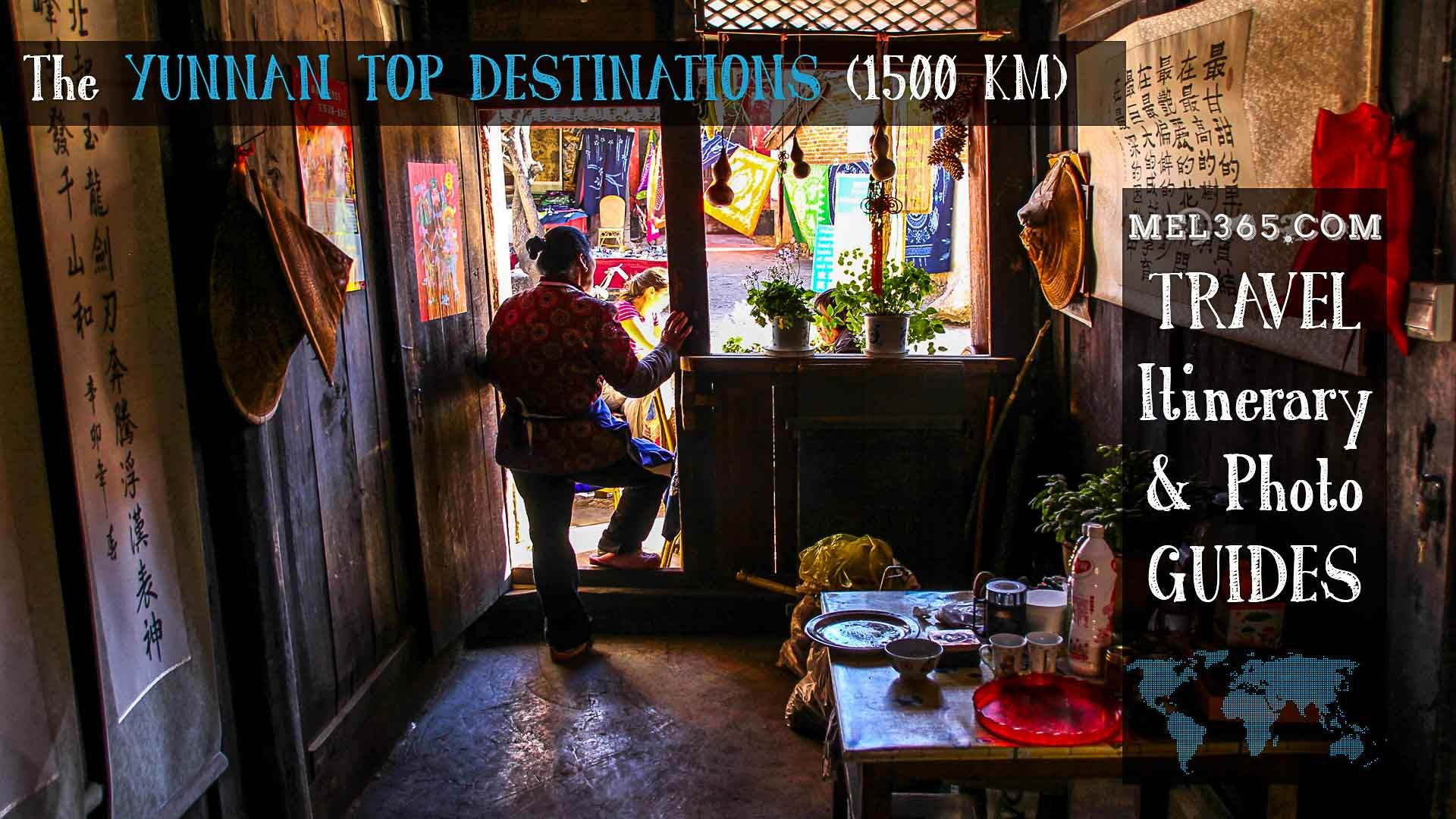 Itinerary – Yunnan top destinations - MEL365.com - Travel & Photography
