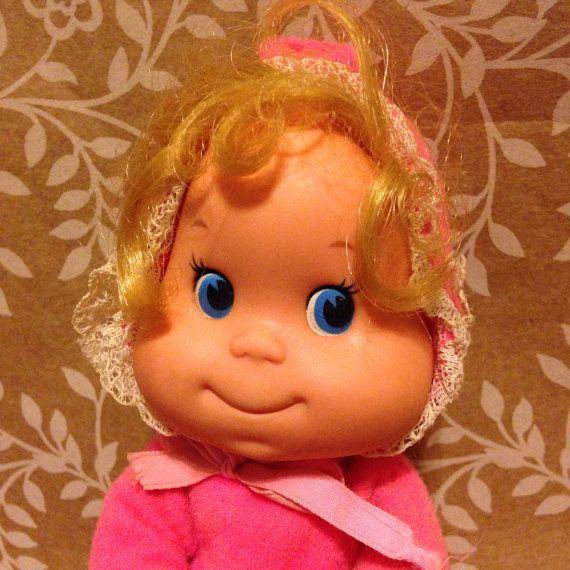 Vintage 1970s Mattel Itsy Bitsy Beanbag Doll Pink On