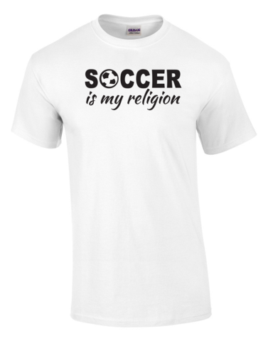 88e0c337a5b Soccer Is My Religion Printed Tee