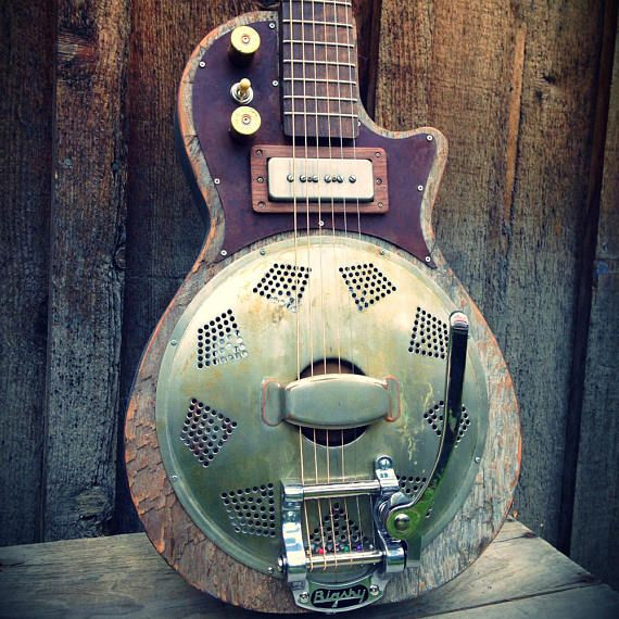 Kochel Guitars Electric Resonator With Bigsby Etsy In 2020 Electric Guitar Resonator Guitar Guitar