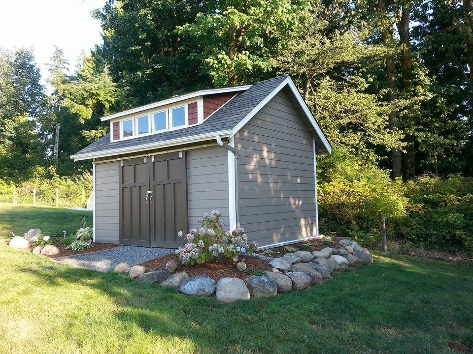 nice way to landscape around a raised shed | Outdoor ...