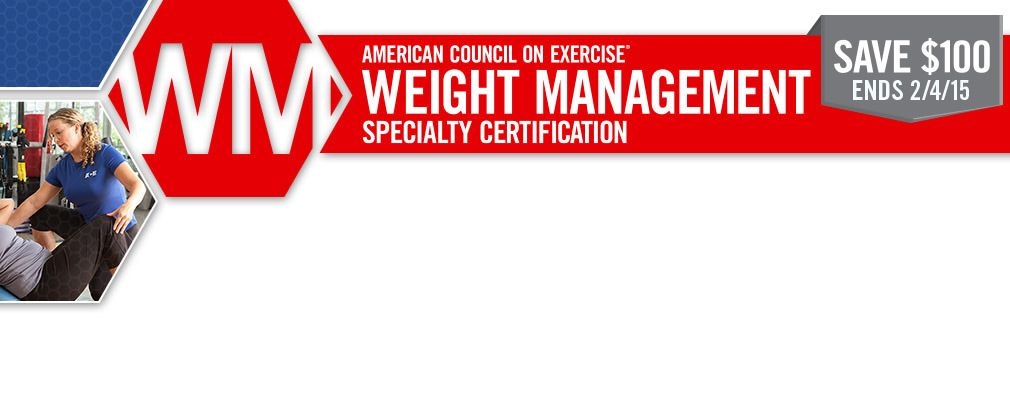 Ace Weight Management Specialty Certification Coaching Weight