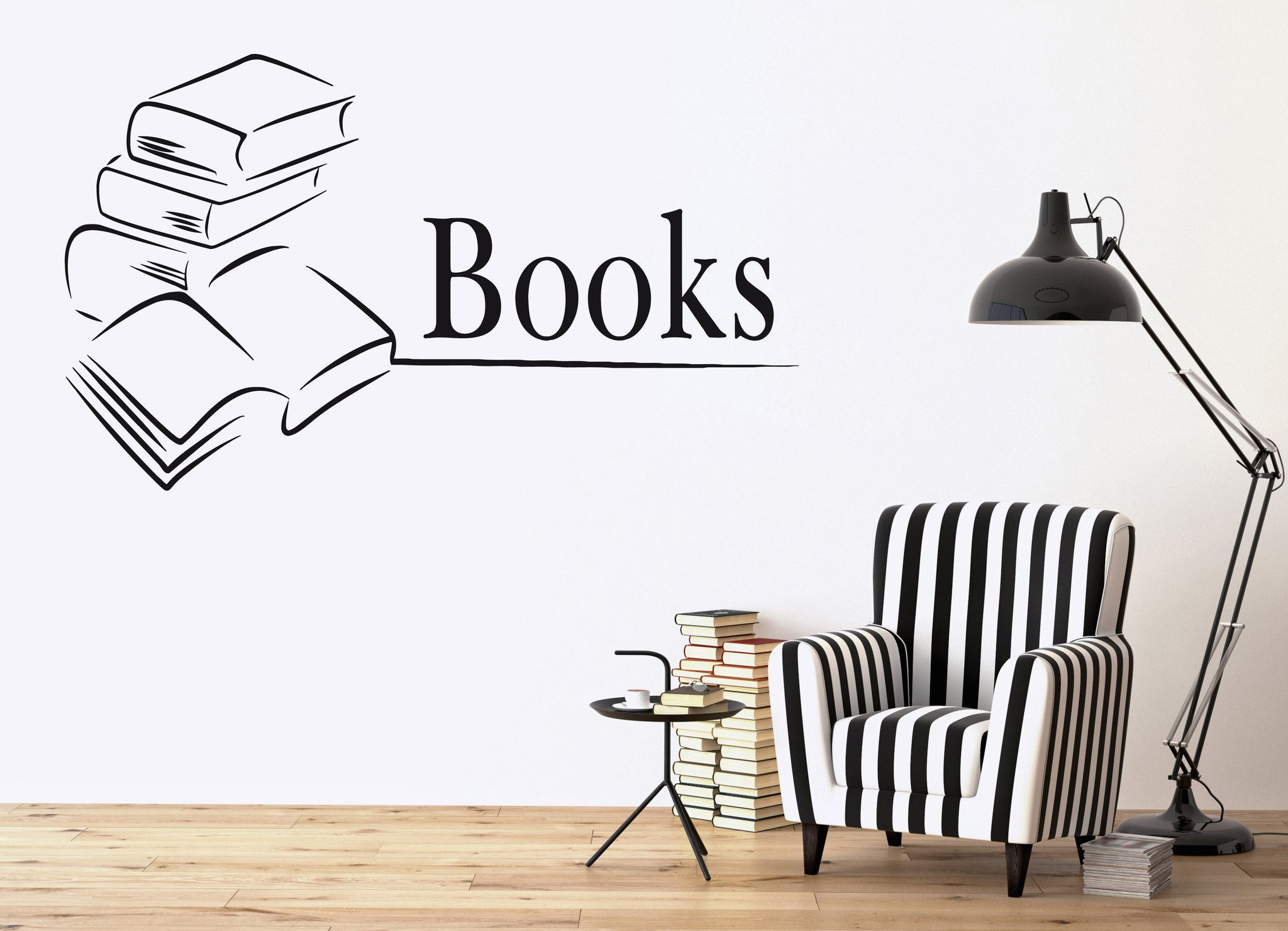 Vinyl Decal Books Library Bookstore Bookworm School Wall Stickers - How to make vinyl wall decals with cricut