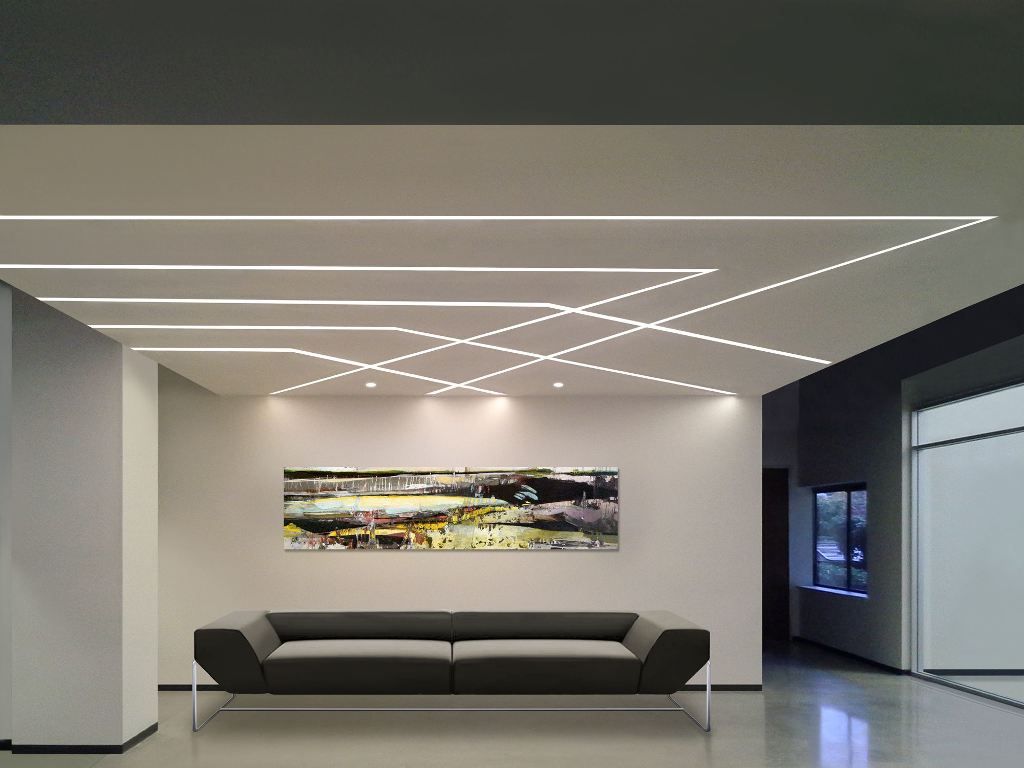 Agatha o truline 5 2 5w 24vdc plaster in led system pure lighting at lightology