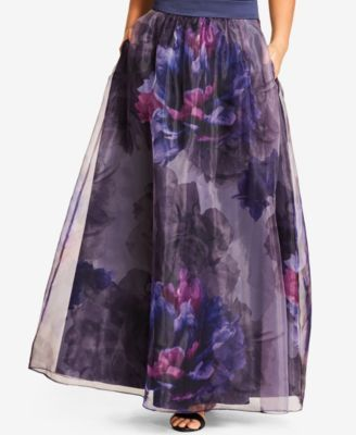 637983b567a City Chic Trendy Plus Size Floral-Print Maxi Skirt  119.00 Make a majestic  entrance in this gorgeous plus size skirt from City Chic