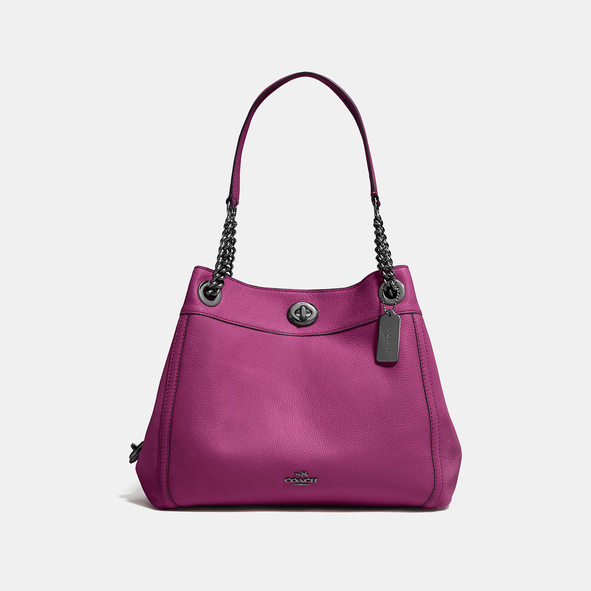 45f09512c6b1 COACH Turnlock Edie Shoulder Bag - Women s Purses