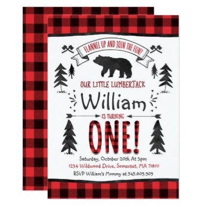 Lumberjack Birthday Invitation Lumberjack Party – Cool Party Invites