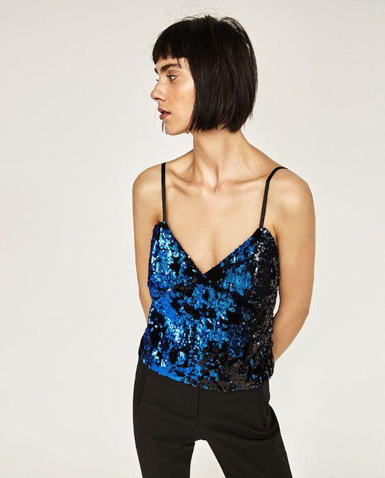 image 3 de top style lingerie paillettes de zara zara On top paillettes zara