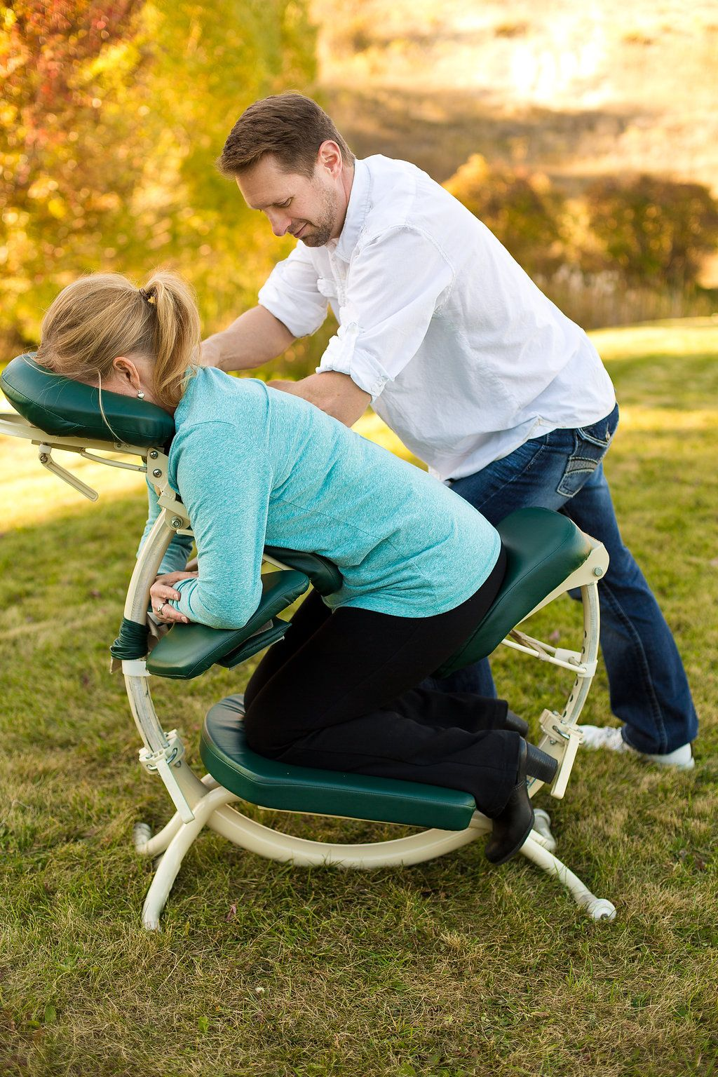 Chair massage in Kalispell, Mt. with Johnny Cochrane, LMT