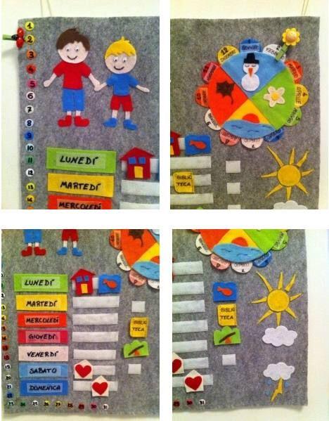 Calendario Per Bambini Fai Da Te.Calendari Fai Da Te Per Insegnare Ai Bambini Lo Scorrere Del