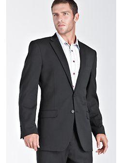 White shirt, dark grey suit, no tie. | Business casual | Pinterest