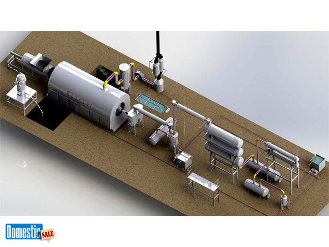 Waste tyre recycling plant and Tyre pyrolysis plant Supplier