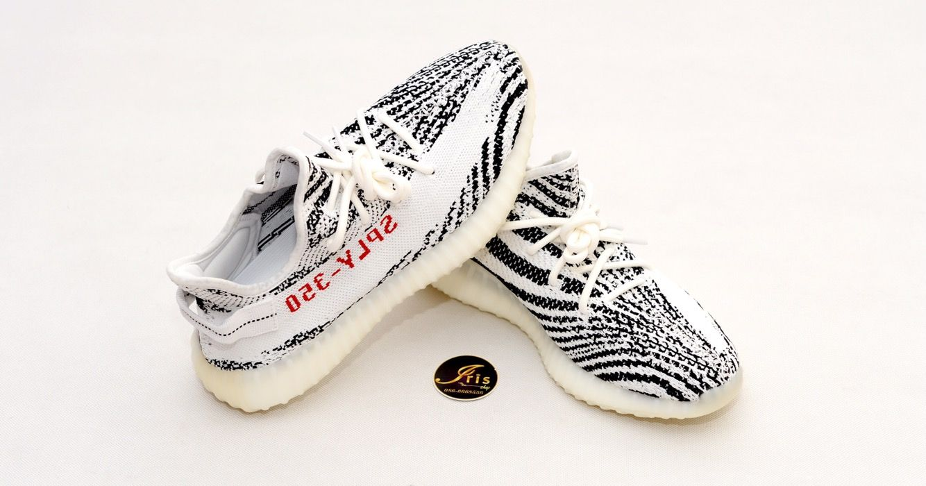 100% Authentic ADIDAS YEEZY BOOST 350 V 2 ZEBRA Size 11