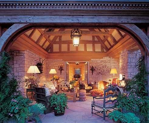 Pavilion Plans With Fireplaces | Covered Patio Designs For Outdoor  Fireplaces...Undercover Enjoyment