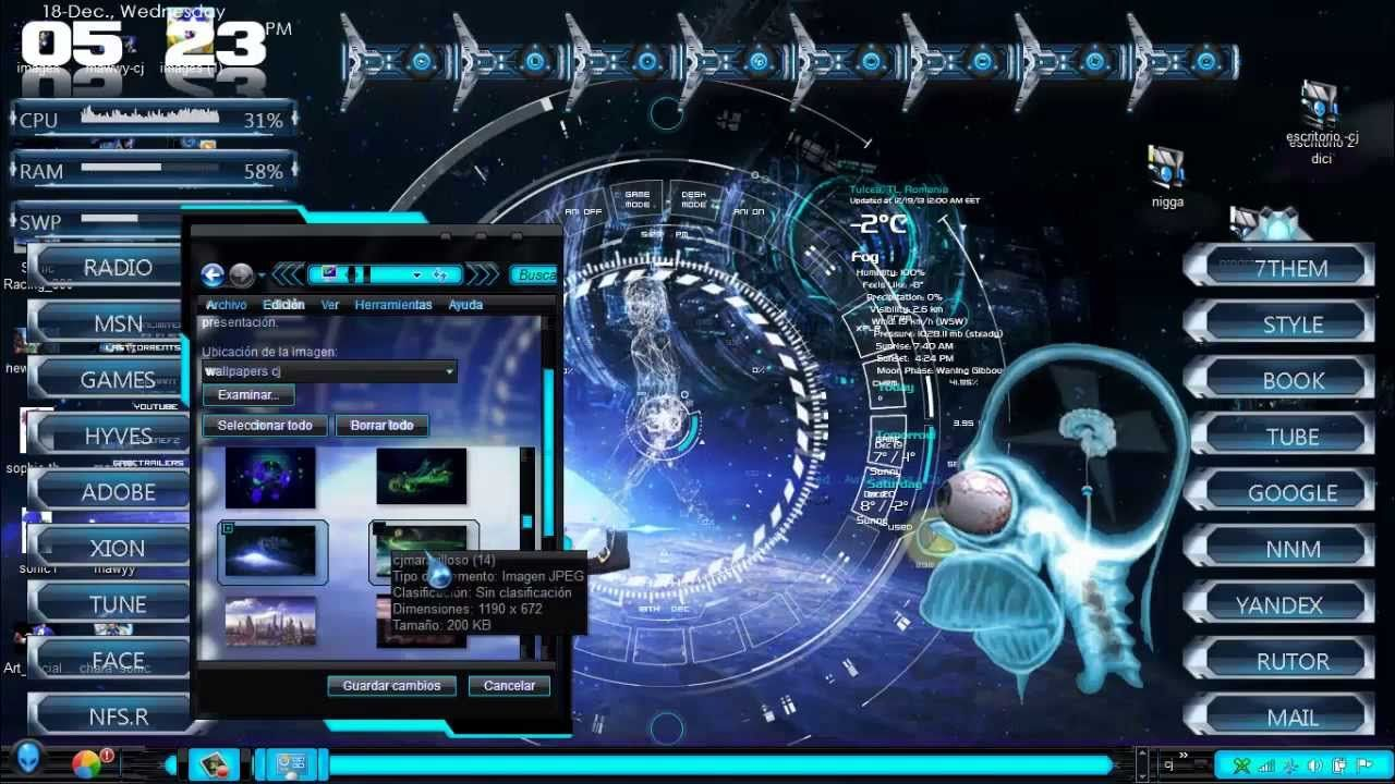 Descarga pack de wallpapers futuristas en HD para windows 7 - YouTube