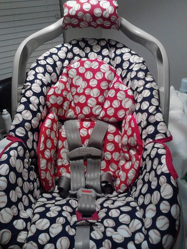 Navy Blue And Red Baseball Infant Car Seat Cover Baby Car Seats