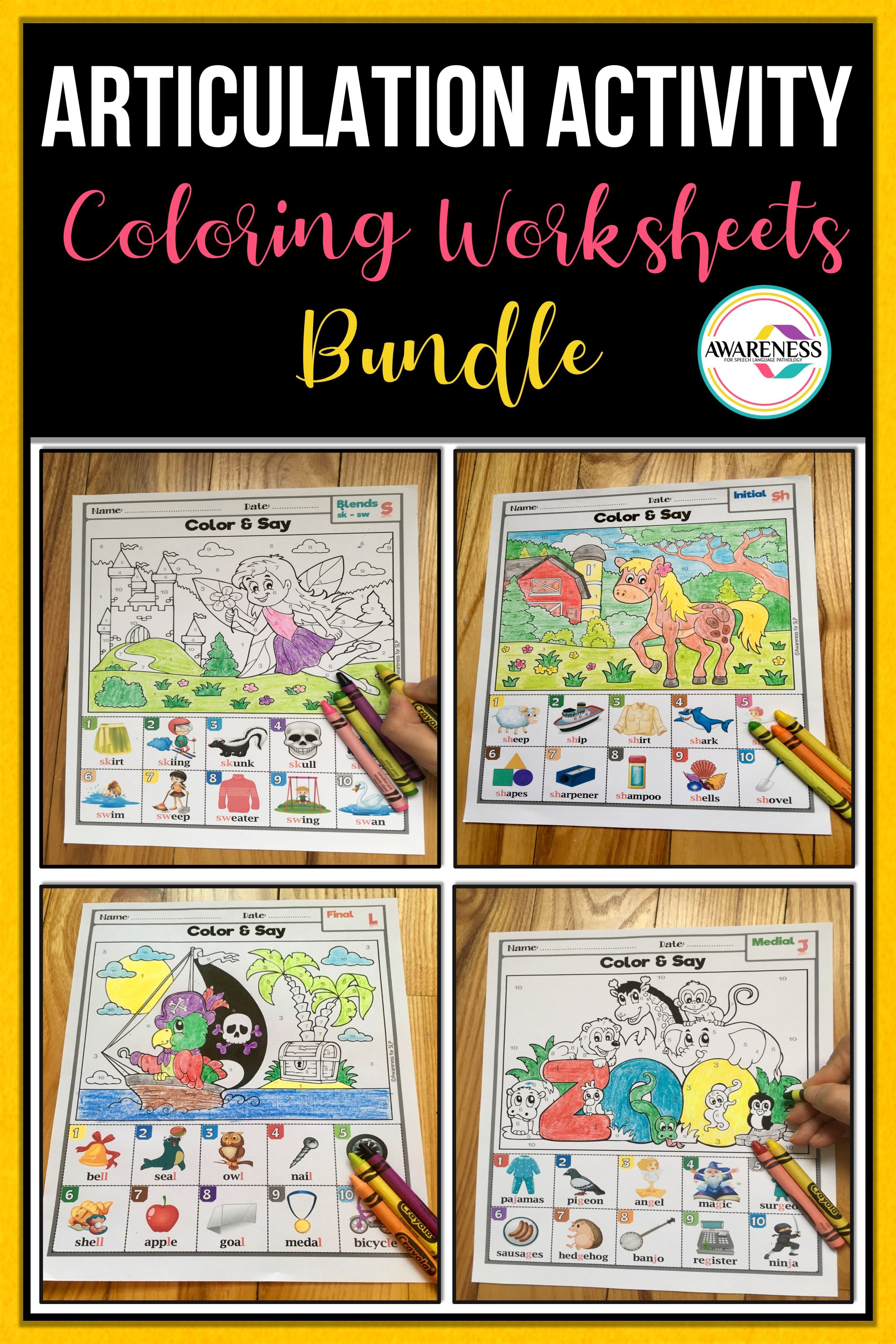 Coloring Articulation Activities For Speech Therapy Your