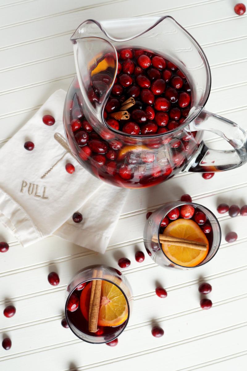 Spiced cranberry orange sangria Recipe Wine tasting