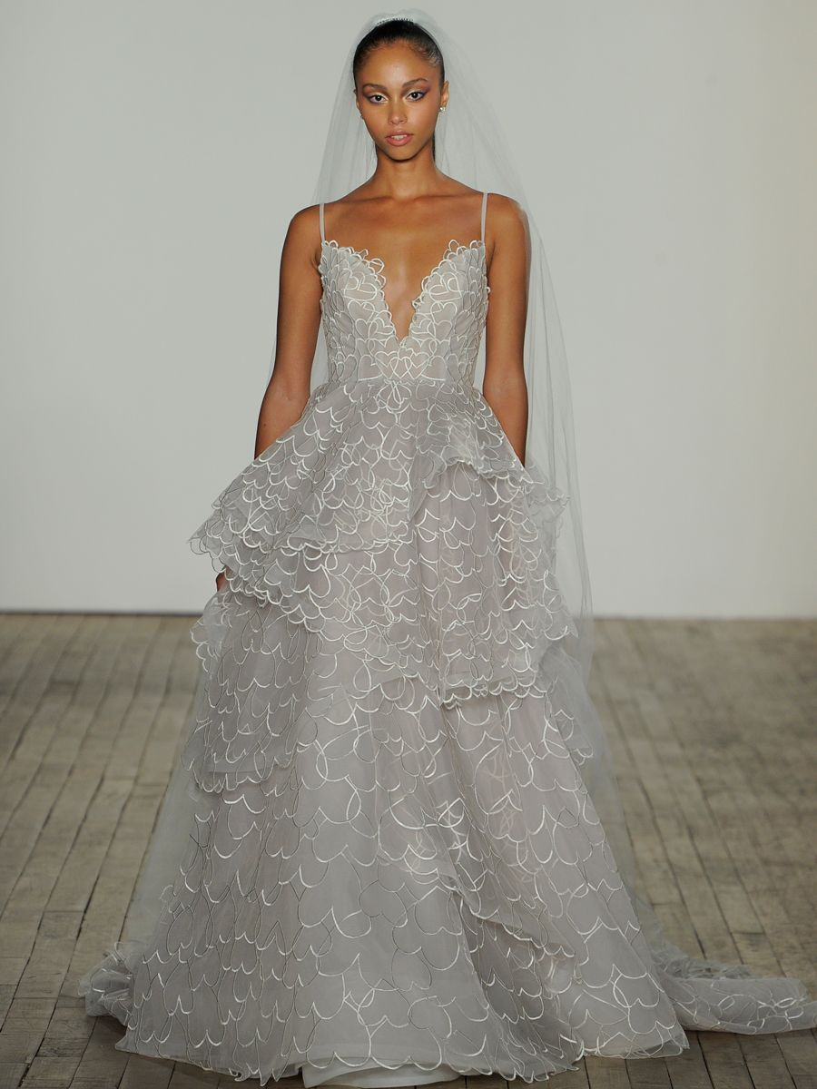 See Hayley Paige Wedding Dresses From Bridal Fashion Week New Wedding Dresses Wedding Dresses Short Wedding Gowns [ 1200 x 900 Pixel ]