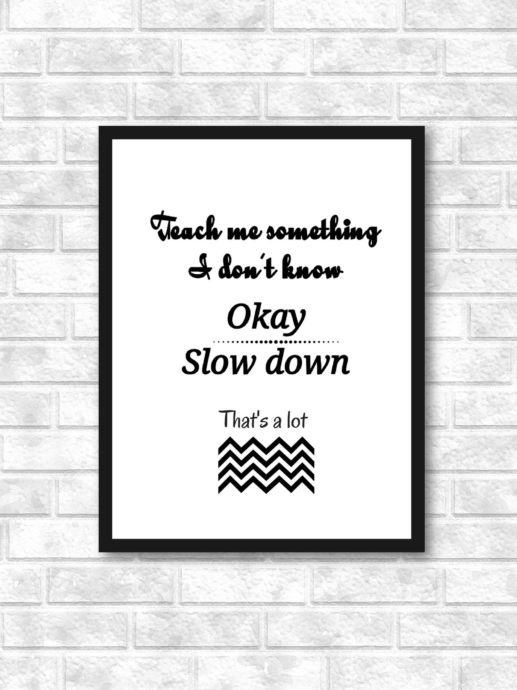 Funny Quote Prints Funny Office Decor Minimalist Printable Wall Art Black And White