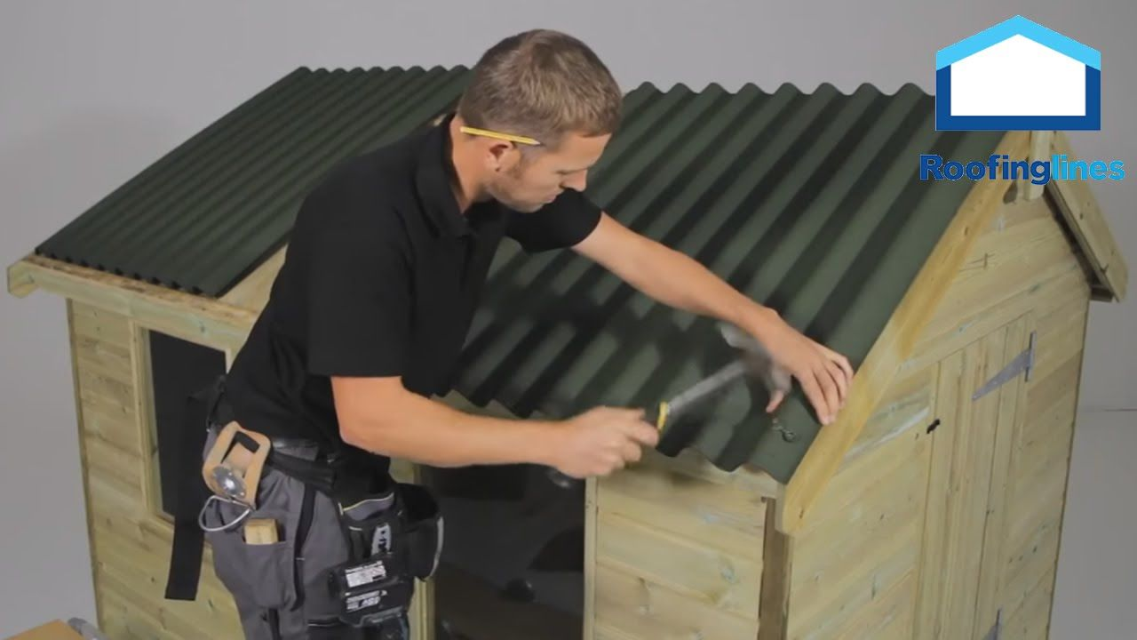 How To Install Onduline Roofing Sheets On Shed Roofs Pvc Roofing Man Shed Shed Roof