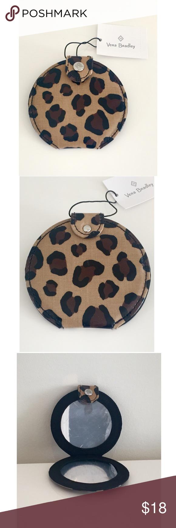 ac168166147 Nwt vera bradley leopard print pocket mirror bag vera bradley pocket mirror  in leopard png 580x1740