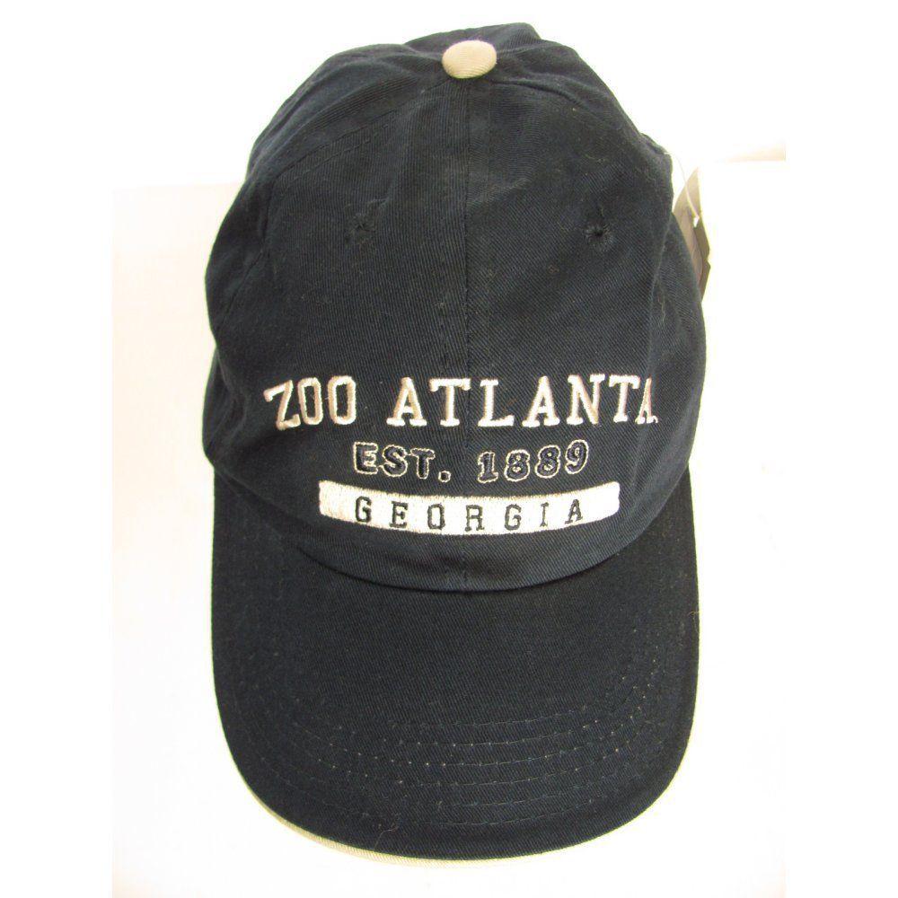 Zoo Atlanta Baseball Cap Navy Blue Cotton Embroidered Hat New Crossroadsdesigns Baseballcap Atlanta Baseball Atlanta Zoo Embroider Hat