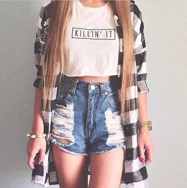 F998 Top Selling Fashion Brand Women T-shirt Killin It Crop Shirts Short Sleeve…