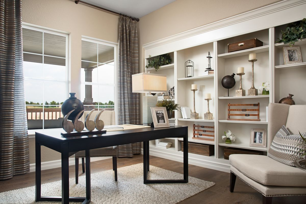 Attractive Built In Shelving Dayton Model Home Study