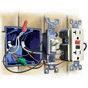 how to upgrade outlets to gfci electrical home. Black Bedroom Furniture Sets. Home Design Ideas
