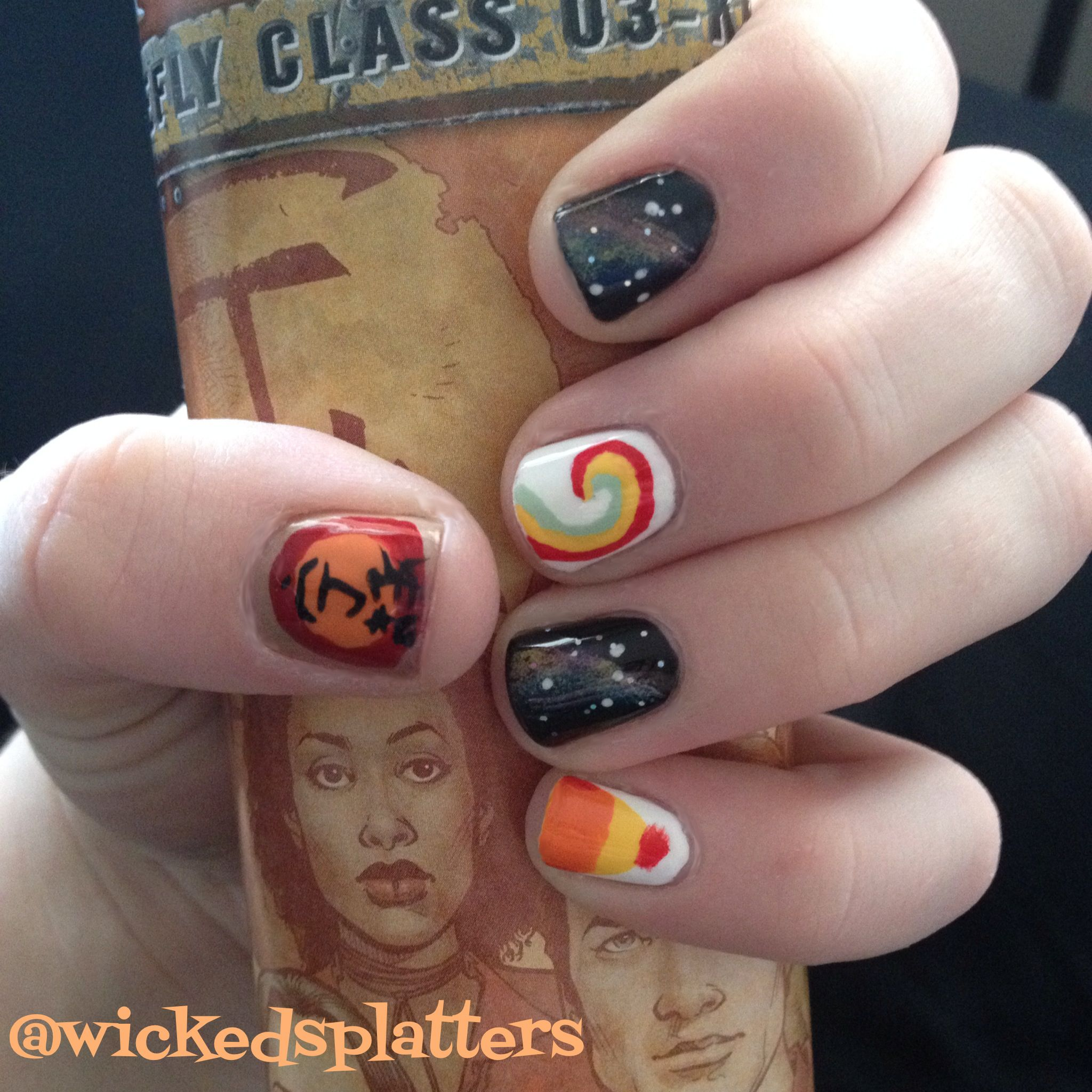 I M A Leaf On The Wind Firefly Serenity Inspired Nails