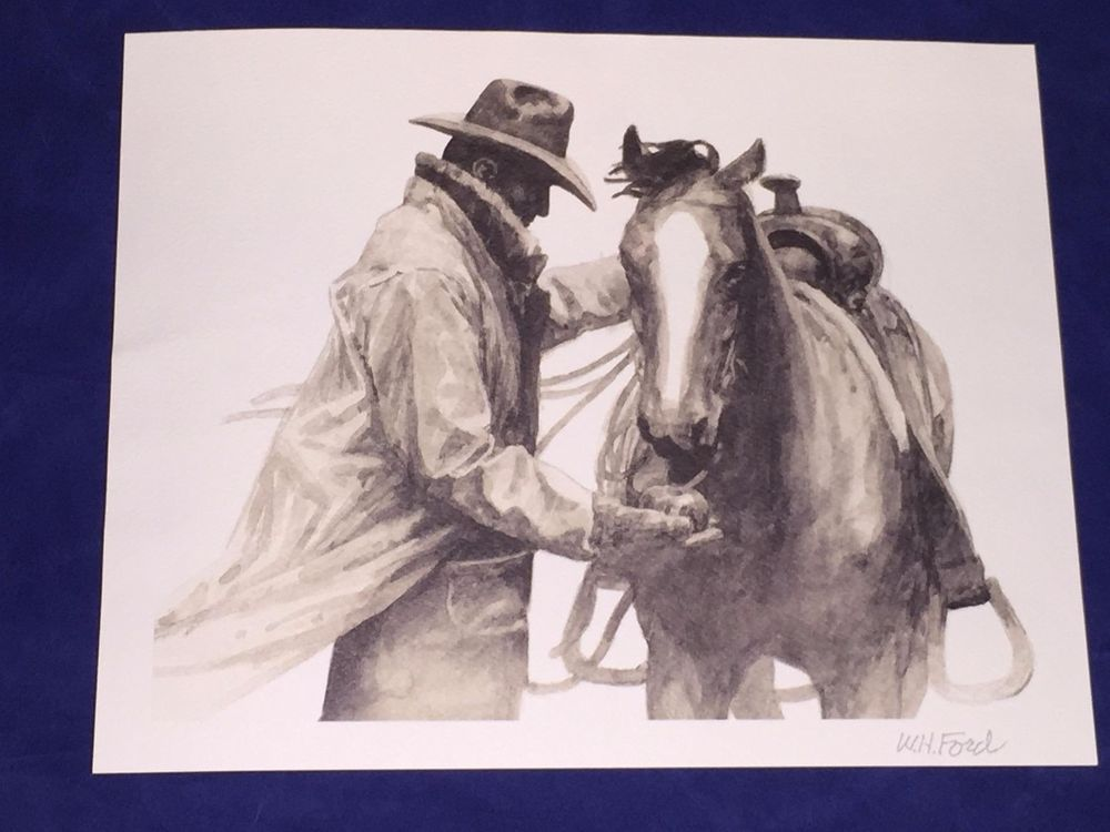 Partners Western Artist Hank Ford Marlboro Man Print