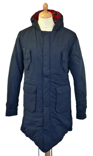 Tobias MERC Retro Sixties Mod Fishtail Parka - Now in Navy ...