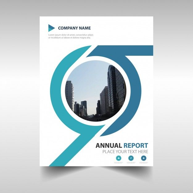 Blue creative annual book book cover template Annual report - business annual report template