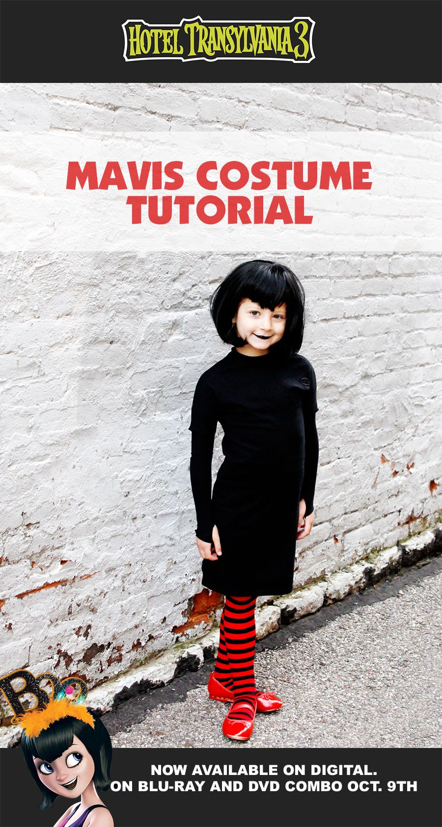 69f0dccd637 Hotel Transylvania 3 s Mavis is the perfect DIY kids costume for Halloween!  With an easy sewing tutorial from  seekatesew1