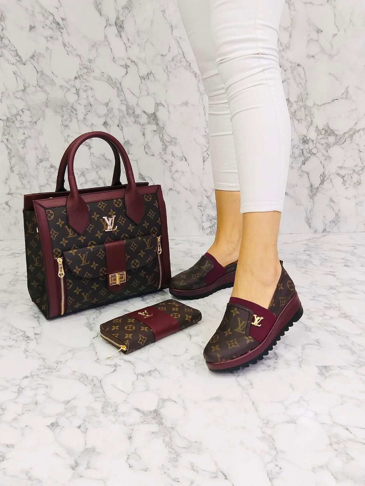 LV FLAT SET in 2020 | Fashion shoes