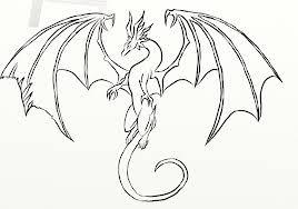 Easy Dragon Drawings Art De Dragon Facile à Dessiner Et