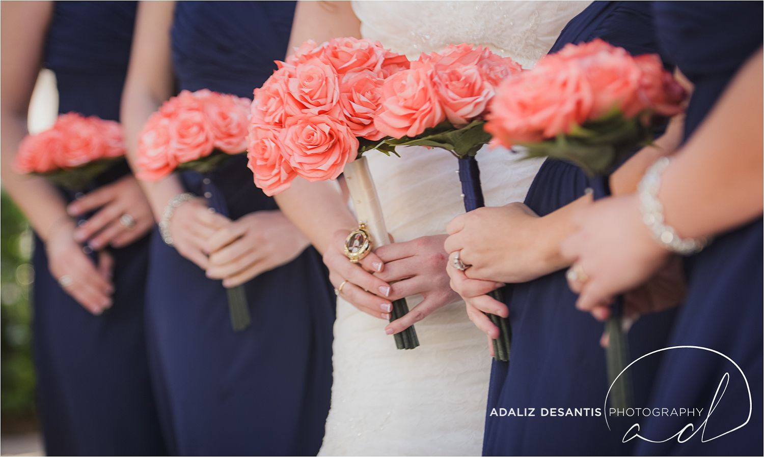 Diy Coffee Filter Flower Wedding Bouquet For Bride And Bridesmaids Crowne Plaza Hollywood Beach Fl Adaliz Desantis Photography